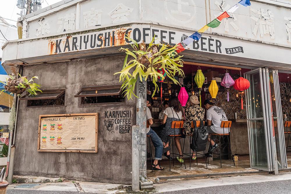 Kariyushi coffee stand beer